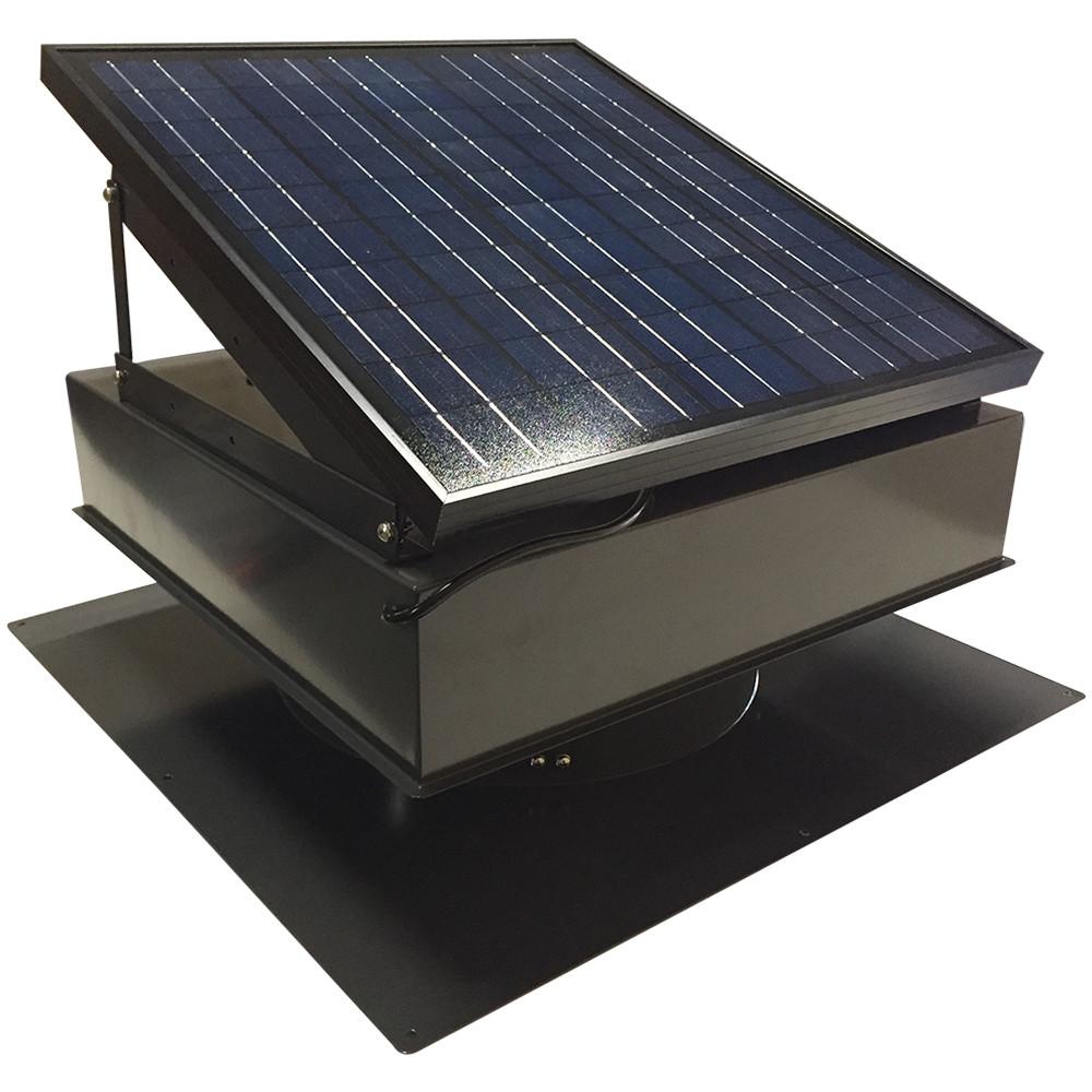 Remington Solar Attic Fan 25 Watt Black Remington Solar