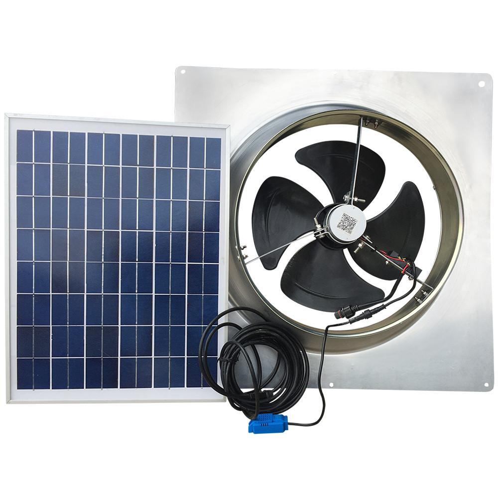 20 Watt Gable Mount Remote Panel Solar Attic Fan
