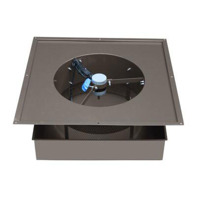Remington Solar Attic Fan 20 Watt Gray Weathered Wood
