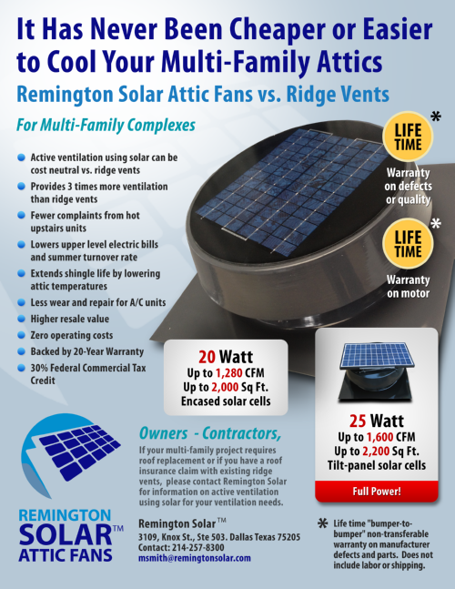 Download Sales Sheet for Multi-Family PNG · Complete Solar Fan ...  sc 1 st  Remington Solar & Remington Solar Attic Fan Features | Remington Solar